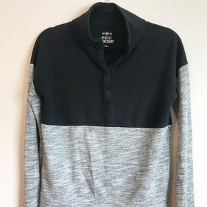 SO Black and Gray Colorblock Perfect Sweatshirt